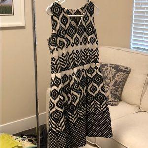 Black and white a-line dress